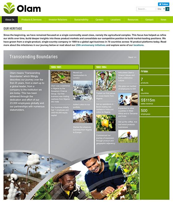 Olam International | Code Web Development - 400.2KB